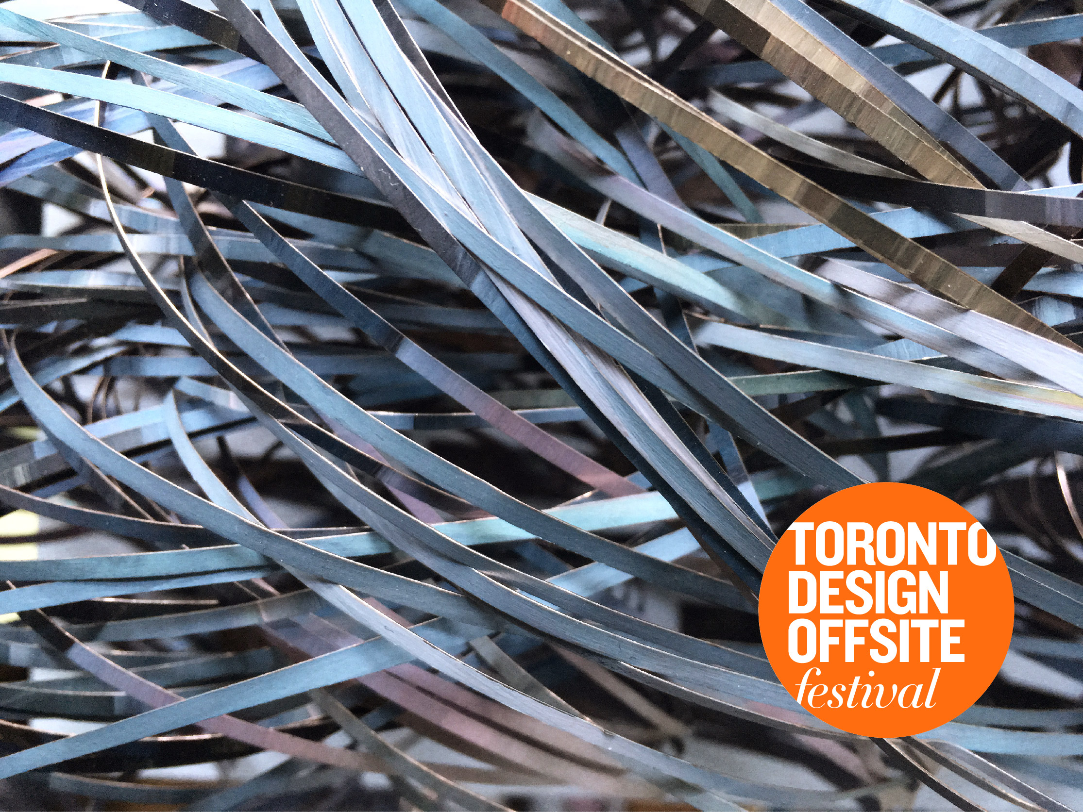 Traces,  a sculptural installation for the Toronto Offsite Design Festival, 2018.