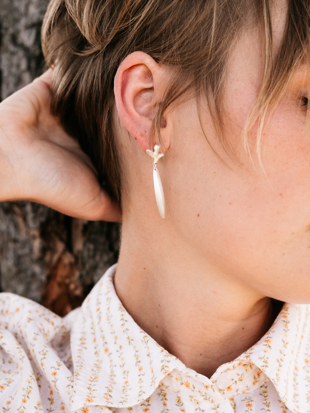 Bud & Leaf Earrings  Shop Here