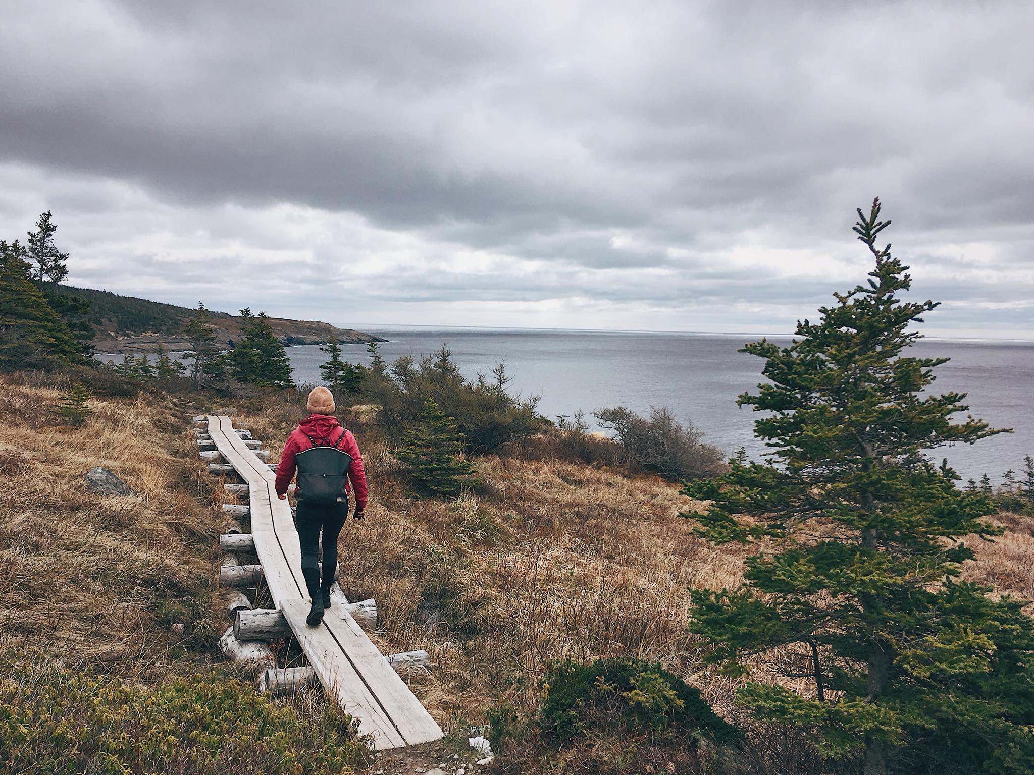 Hike at Bay Bulls, NL, May 2018.