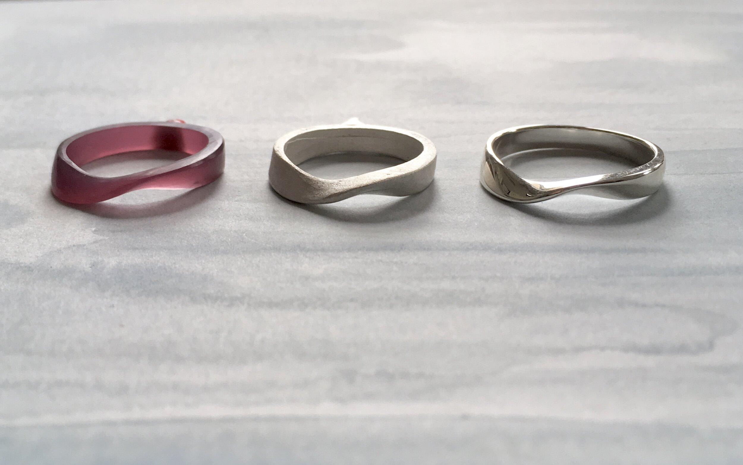 K. Claire MacDonald Jewellery Design & Sculpture silver rings