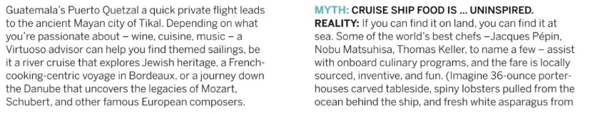 Cruising Myths Debunked - Virtuoso Ideas Book 2018 - text 2