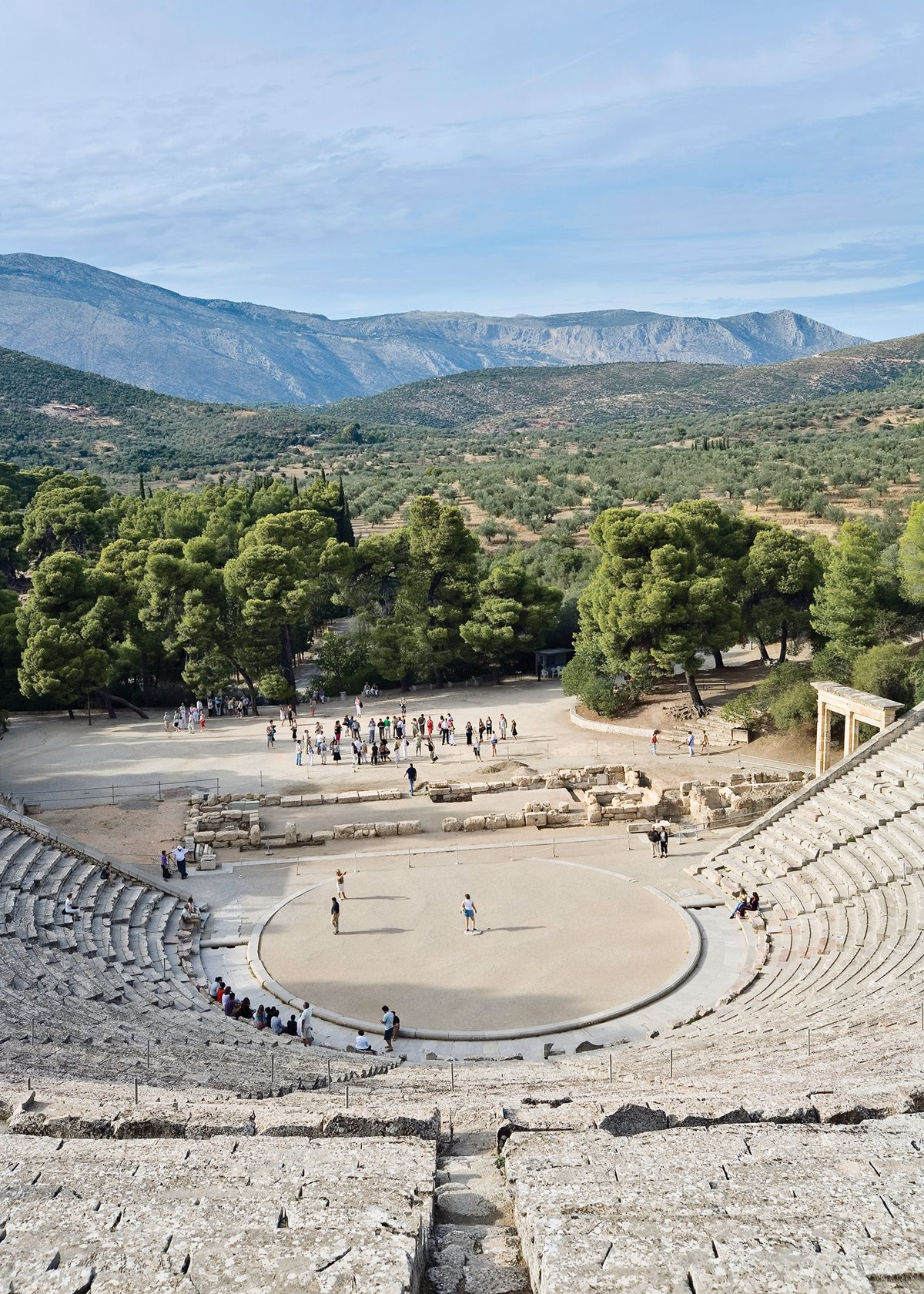 The Ancient Theatre of Epidaurus, which still hosts performances today.    Photo by Corbis Documentary/Getty Images