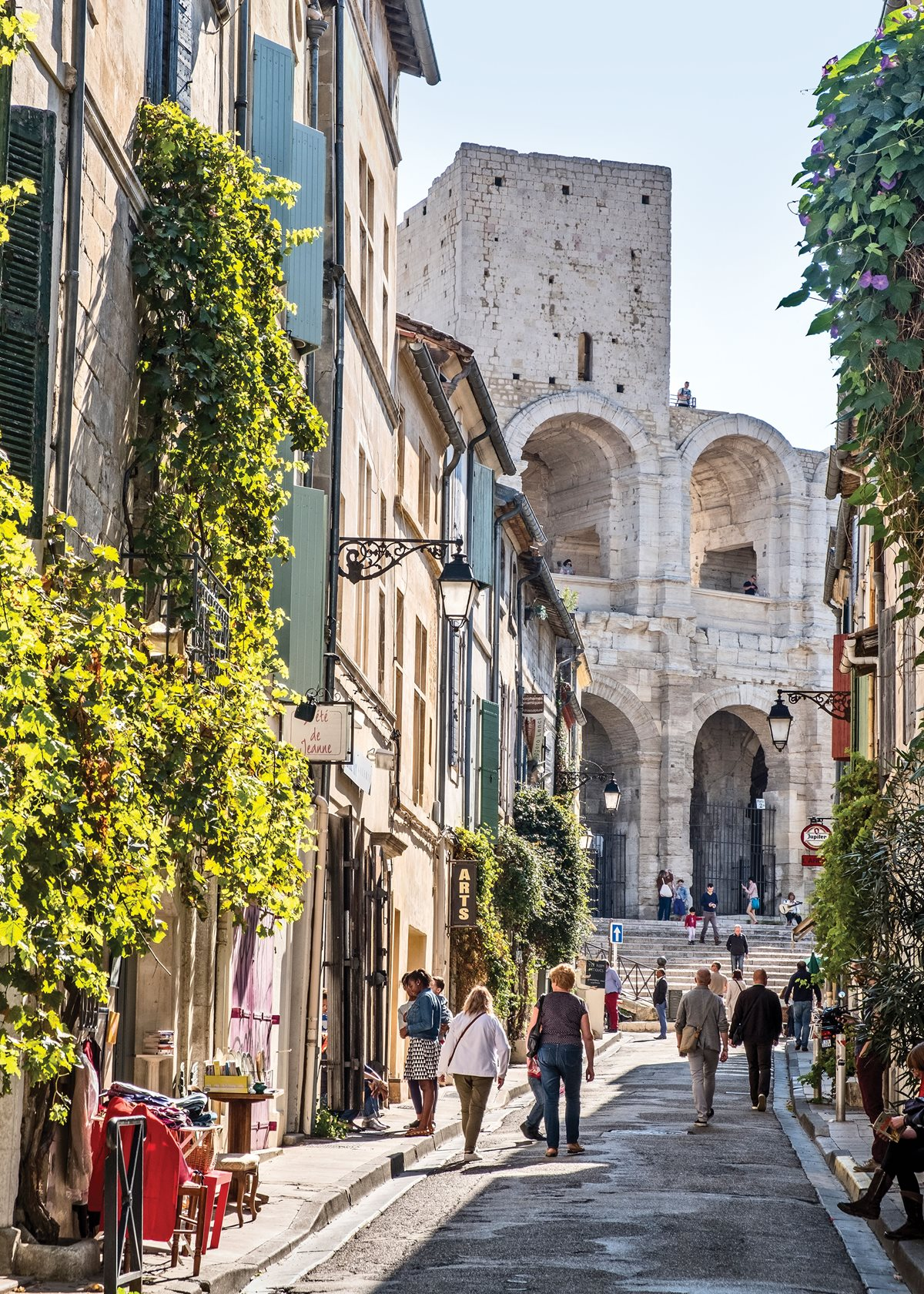 Afternoon strolls in the heart of Arles.    Photo by Picavet/Getty Images