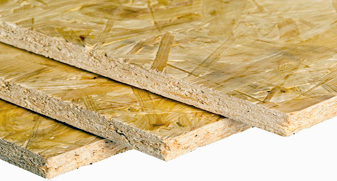 OSB is commonly used for exterior sheathing and subfloors.