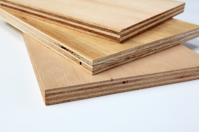 Plywood is thin layers of wood pressed and held together by an adhesive.