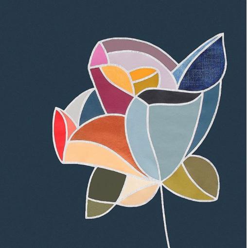 Flower artwork by Rachel Castle aka The Colour Master. Image: Rachel Castle Instagram