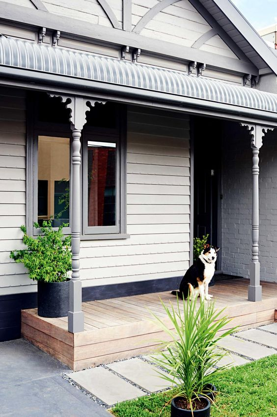 Neutral exteriors are a great choice if you are planning to sell in the future. Image: Pinterest
