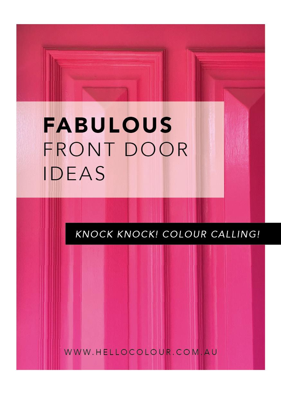 Fabulous front door ideas