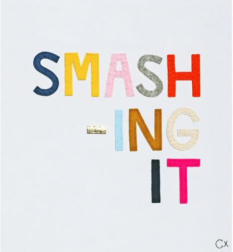 2. Smashing It embroidery