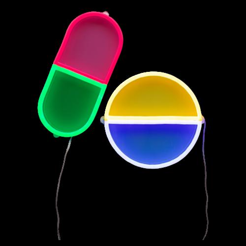 6. Neon happy pills