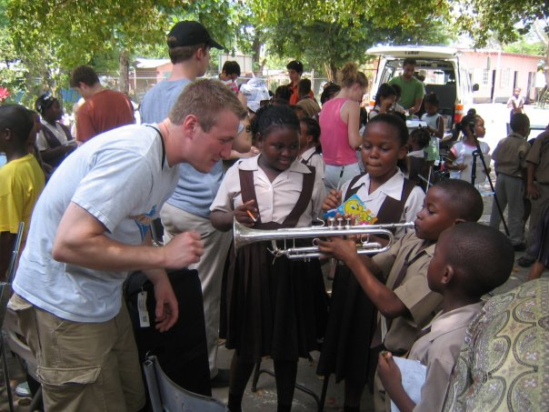 Hanging with some awesome Kids in Jamaica with the University of Pittsburgh Jazz Ensemble