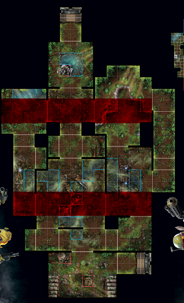 When occupying the left corridor, your opponents' line of sight and approach is limited to the two ends of the corridor.