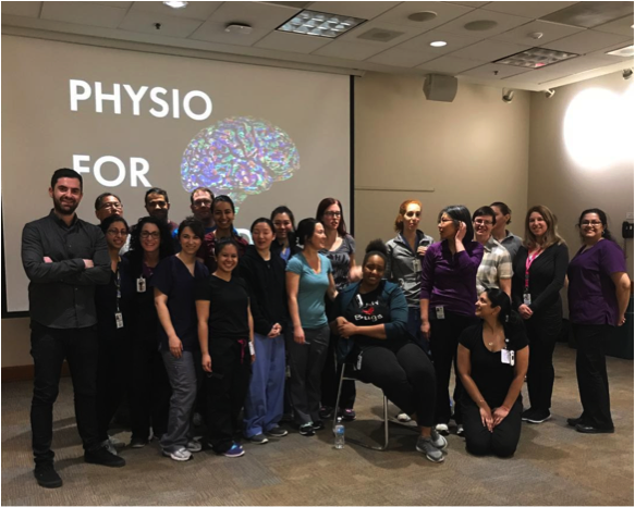 / / May 16 2017 - Physio for the Brain - Dhani teaches North York General physiotherapy staff how to meditate.This group of professionals got a first hand look at incorporating meditation into theirprofessional lives.