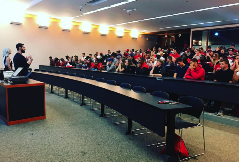 / / September 1 2017 - York University – a workshop supported by Lululemon where Dhani & Tanya presented the UN//TY method of mindfulness meditation to a student audience of York U varsity athletes; introducing them to the mindful athlete concepts and how to find balance within their academic & athletic careers.