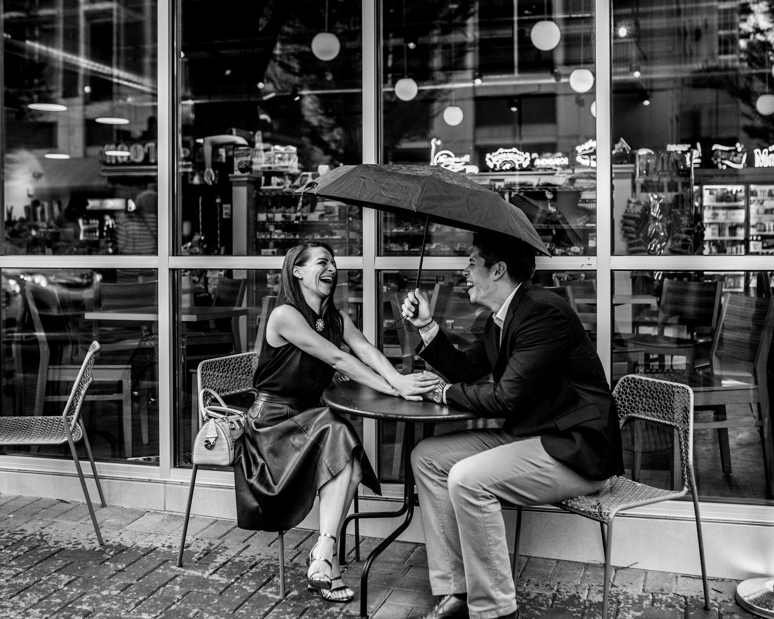 Unique Charlotte Engagement Photo