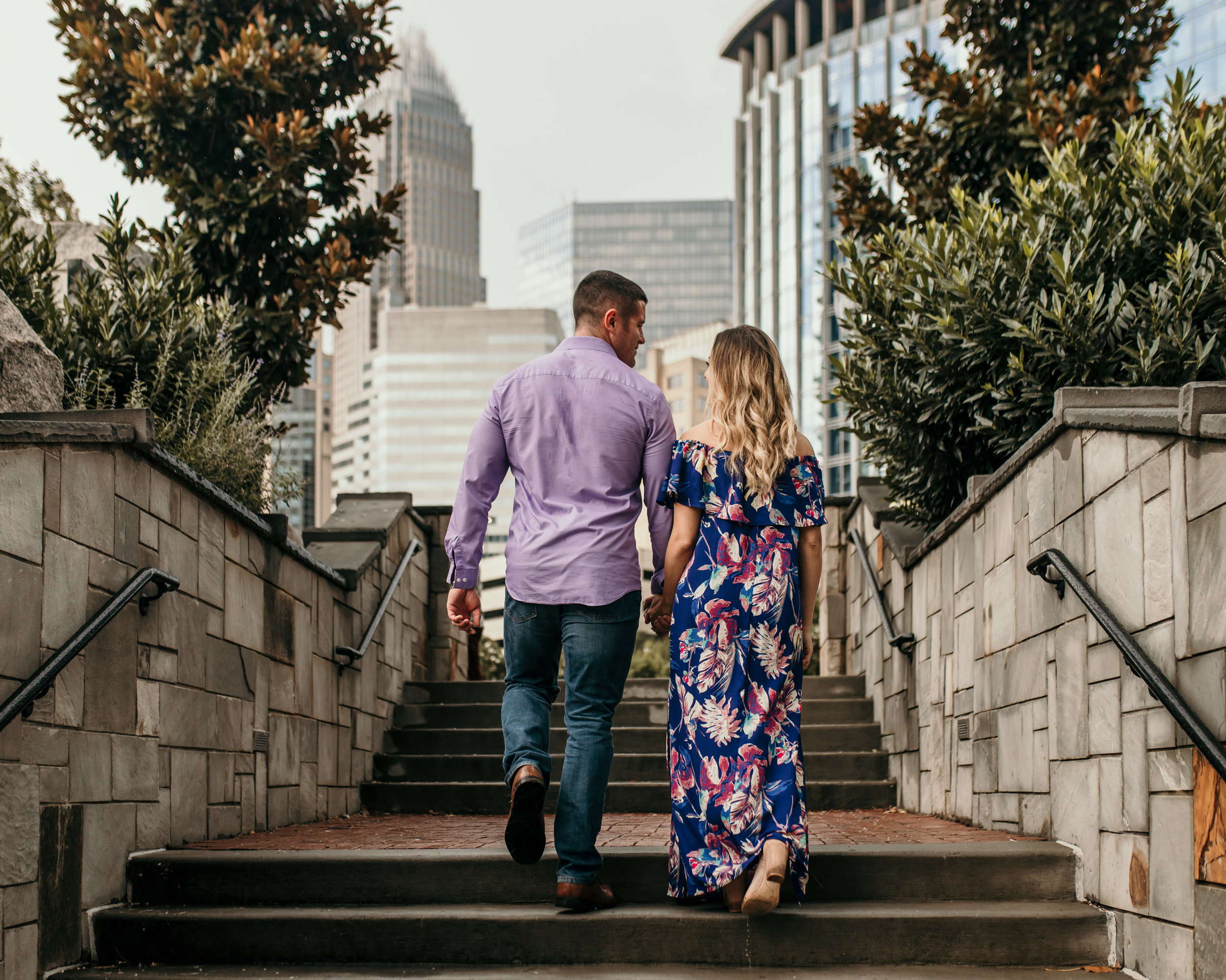 Charlotte Engagement Photo