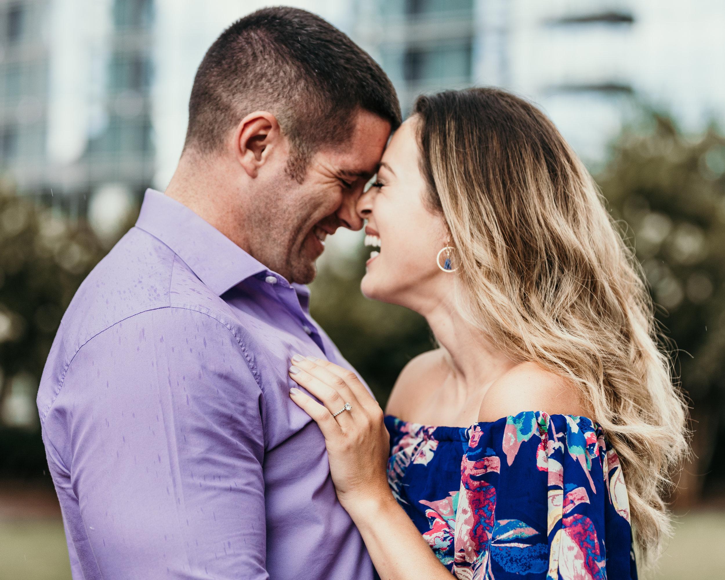 Intimate Engagement Photo Charlotte