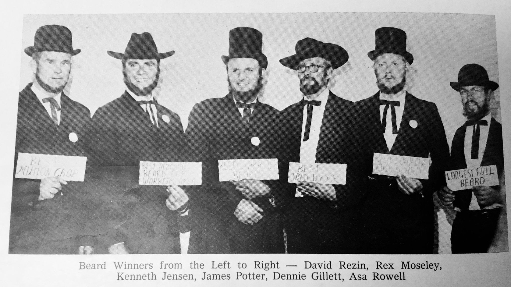 Here is a picture from the Cranfest Beard Contest many moons ago! I hope people dress in suits and hats this year too!