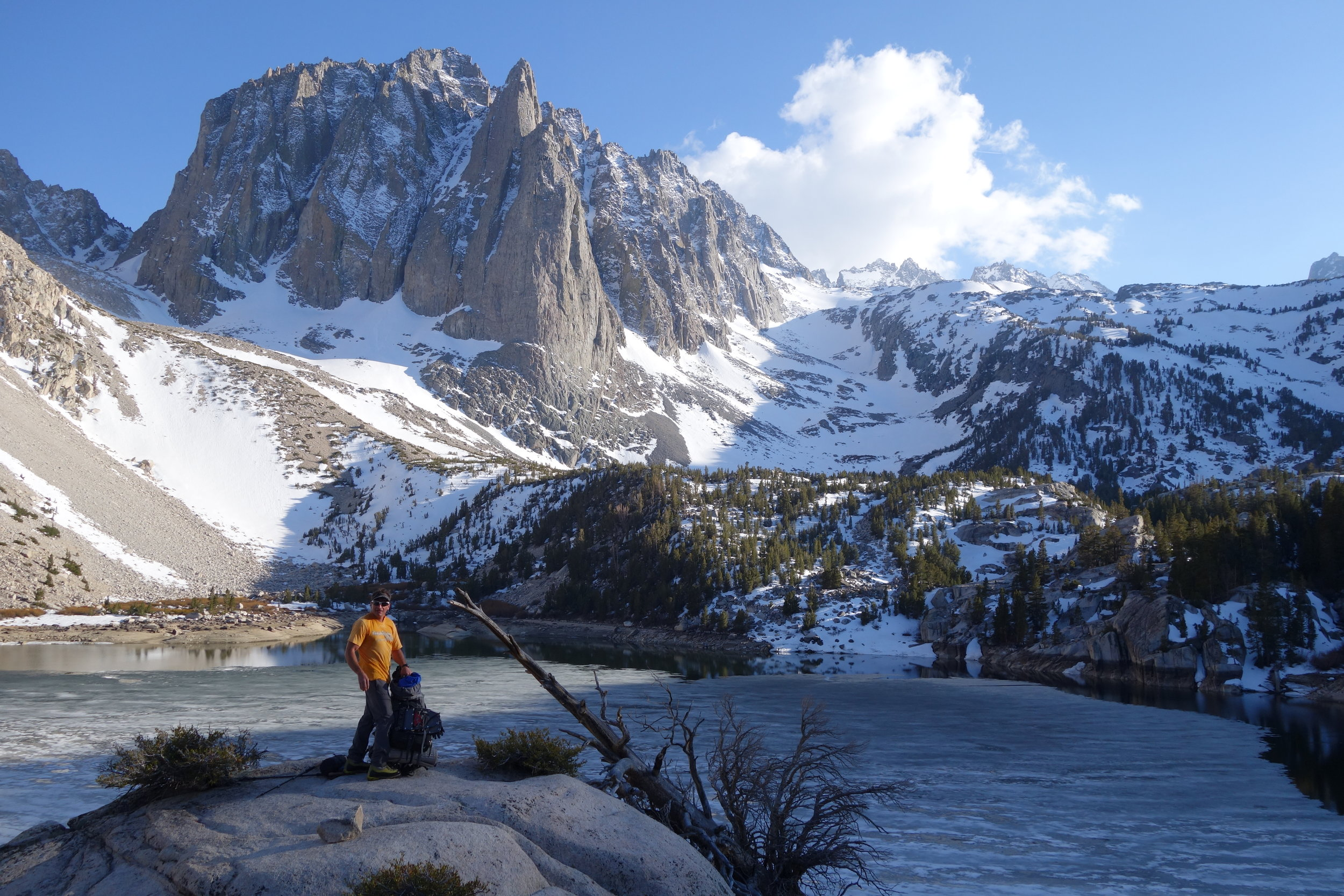 Palisades Lakes, eastern Sierra Nevada. Early season (mid-May).