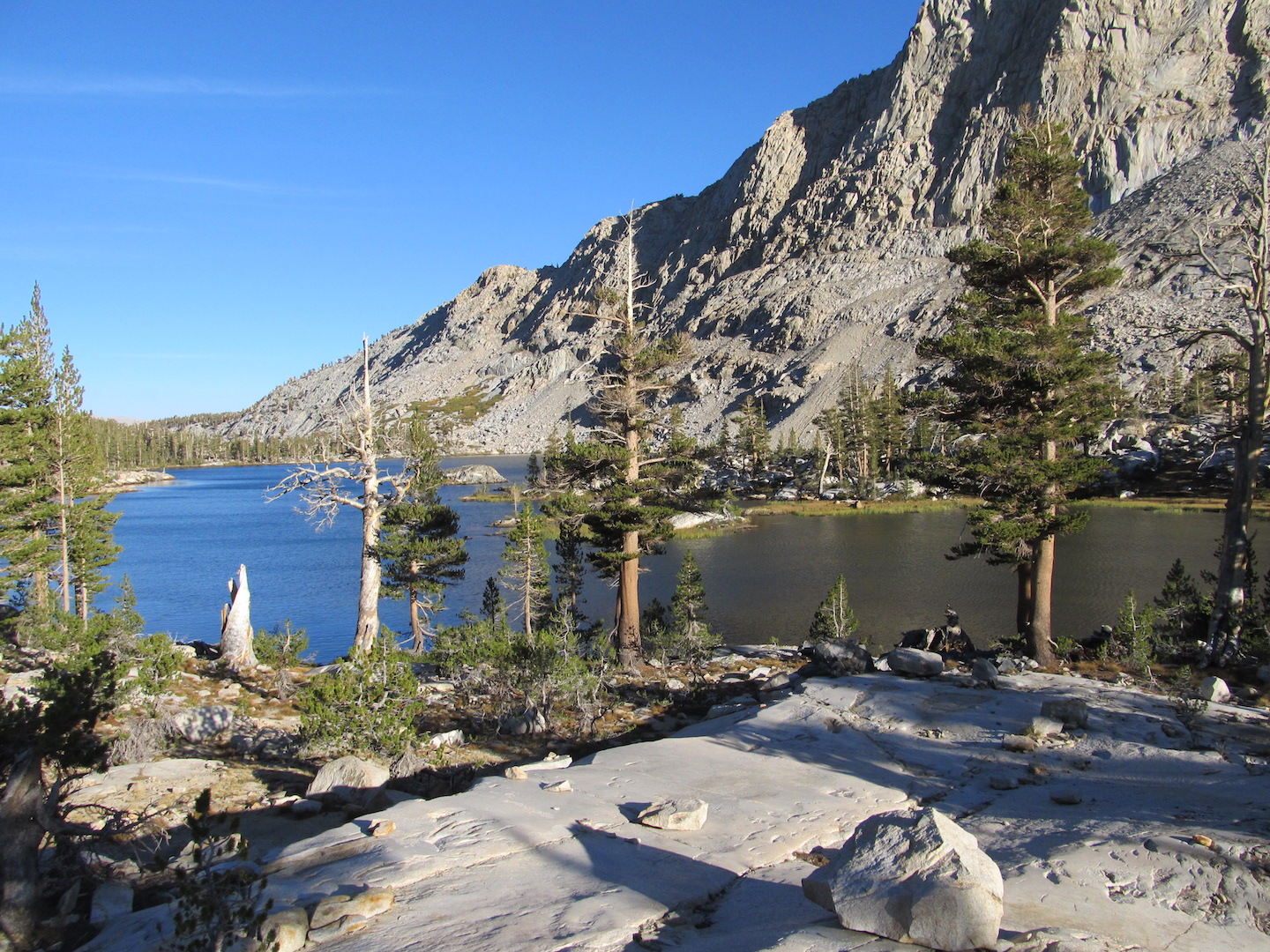 Lakeside camping in the High Sierra