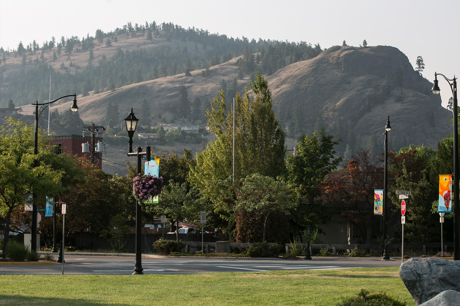 View from Nester's Market in downtown Summerland