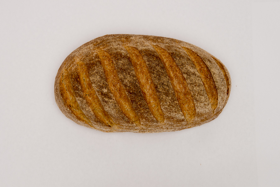 House Stone -  A beautifully light wholemeal bread. Organic Stoneground wheat and rye flour with added wheat bran makes this brown bread a great alternative to our house white.