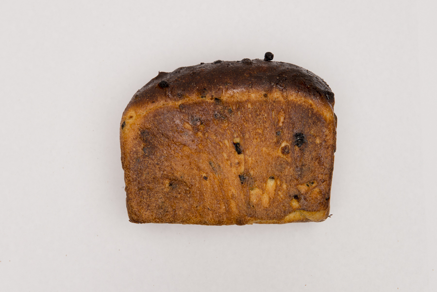 Raisin Loaf -  An organic stoneground wholemeal and wheat flour dough combined with pureed oranges, fresh ginger and juicy Australian sultanas and currants.