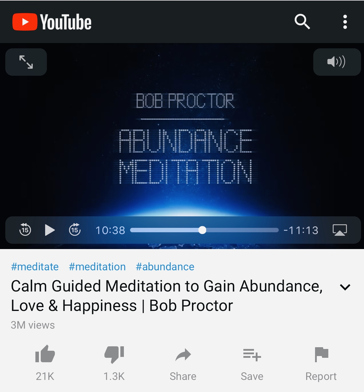 This is the guided mediation I've been listening to recently and I love it. It's so relaxing and uplifting.