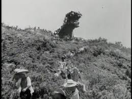 Godzilla in his first appearance. (1954)