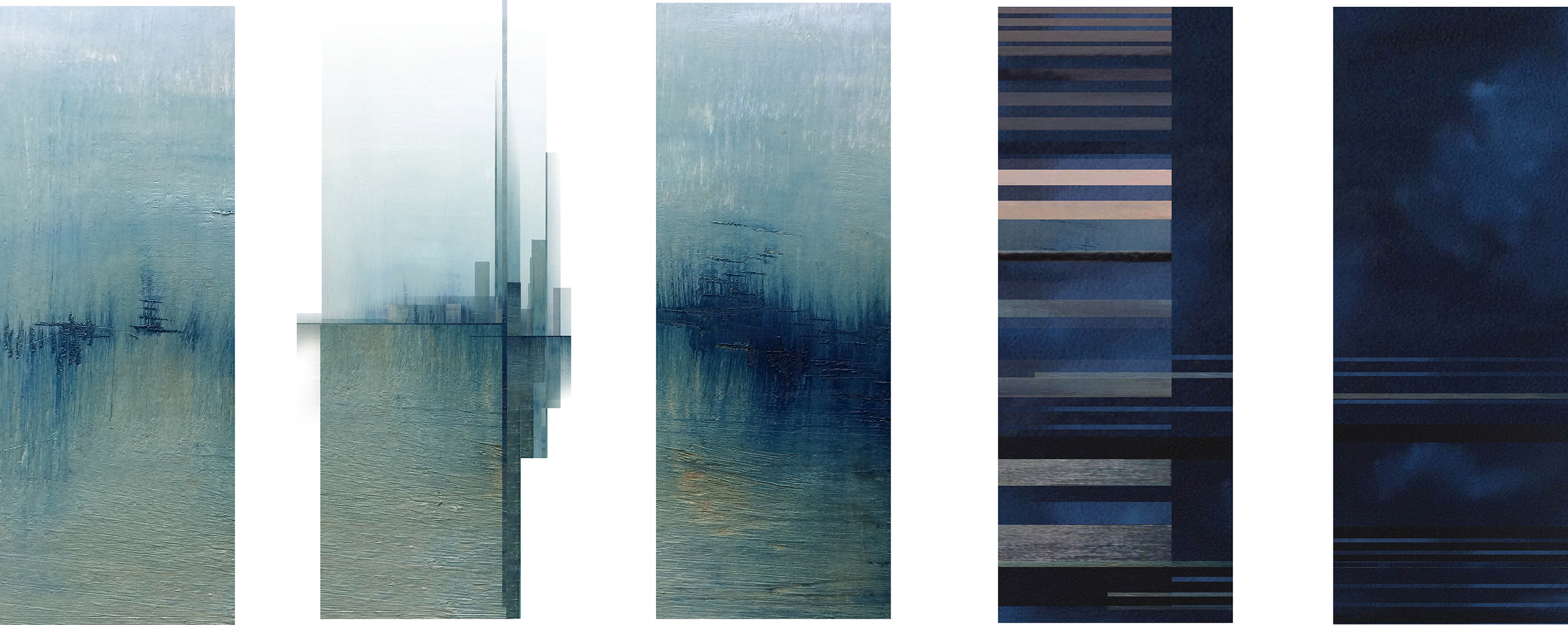 Continuum | 48 x 84 | reconstructed oil painting