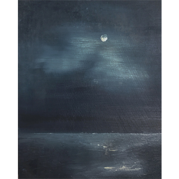 Moonlight I 6 x 4 I oil on pine