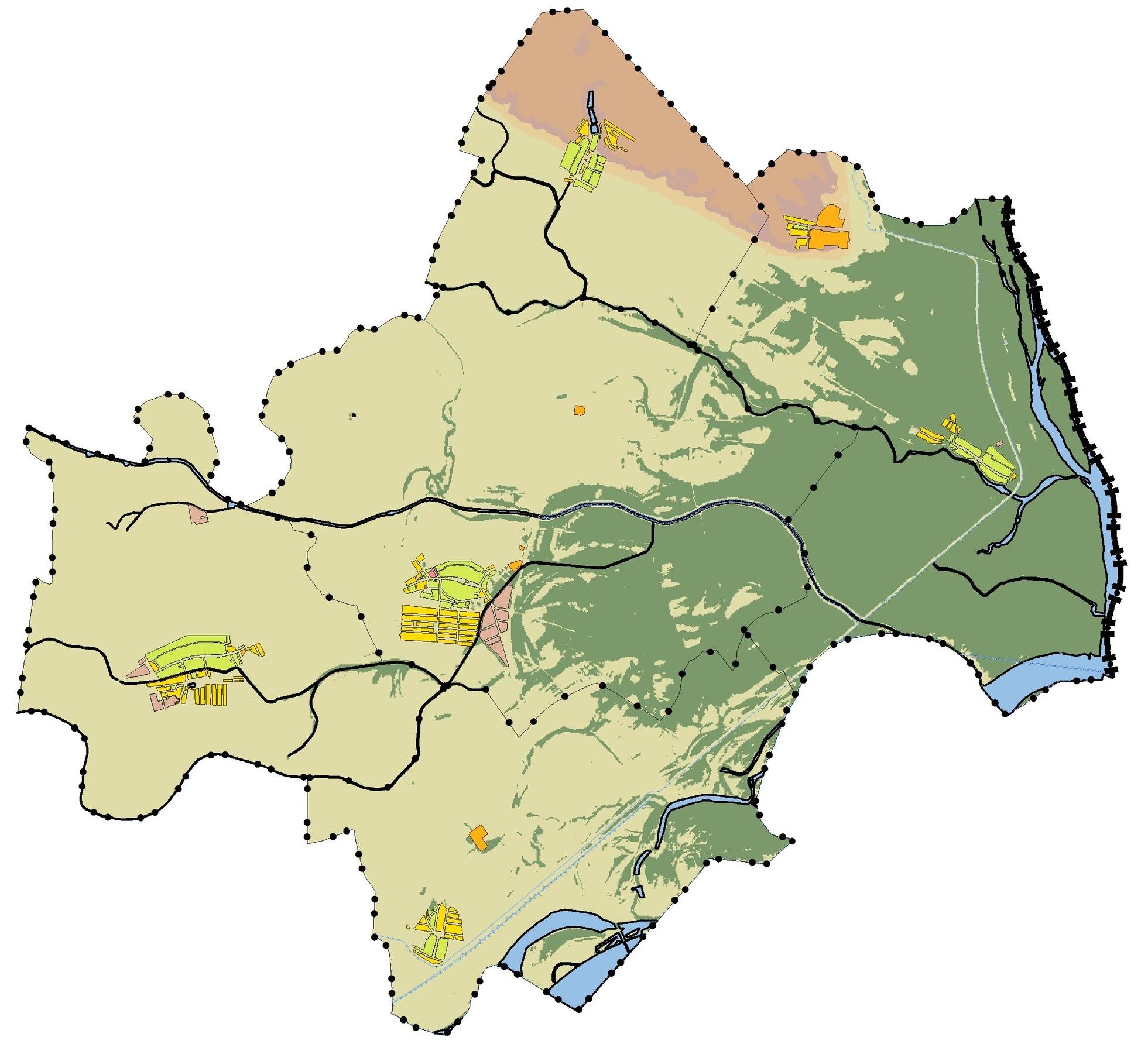Gemeinde Engelhartstetten, Geländeanalyse