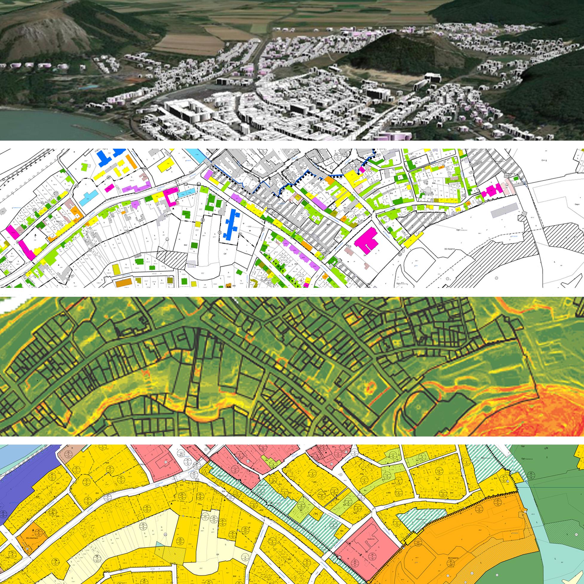 Ausschnitte aus der Grundlagenforschung zum Bebauungsplan Hainburg/Donau