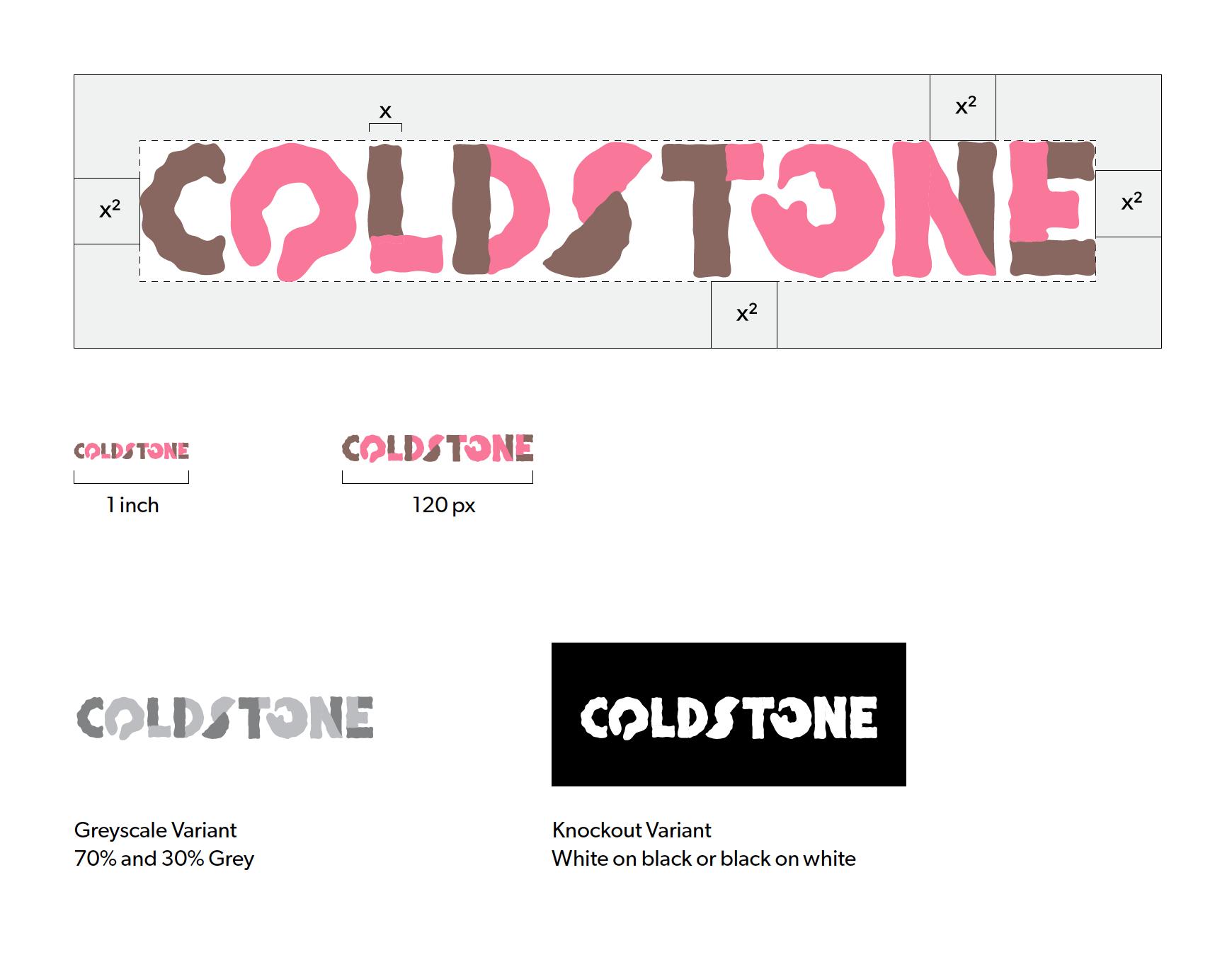 Cold Stone Creamery rebrand Signature Details