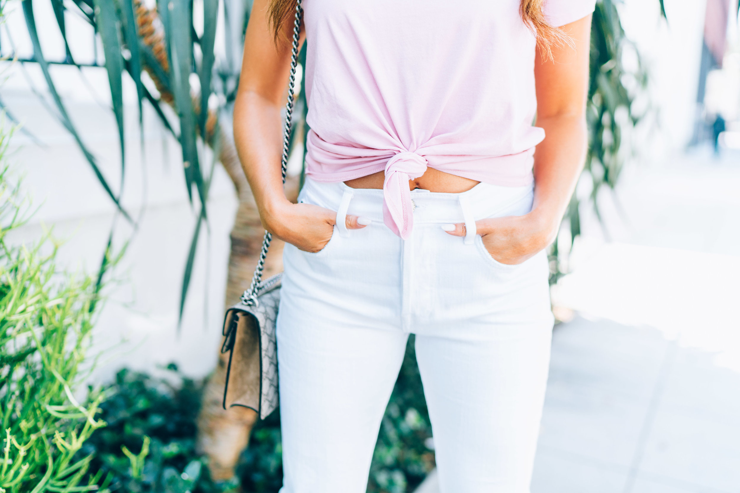 Knot-Front Tee - in 'petal pink' by MADEWELL