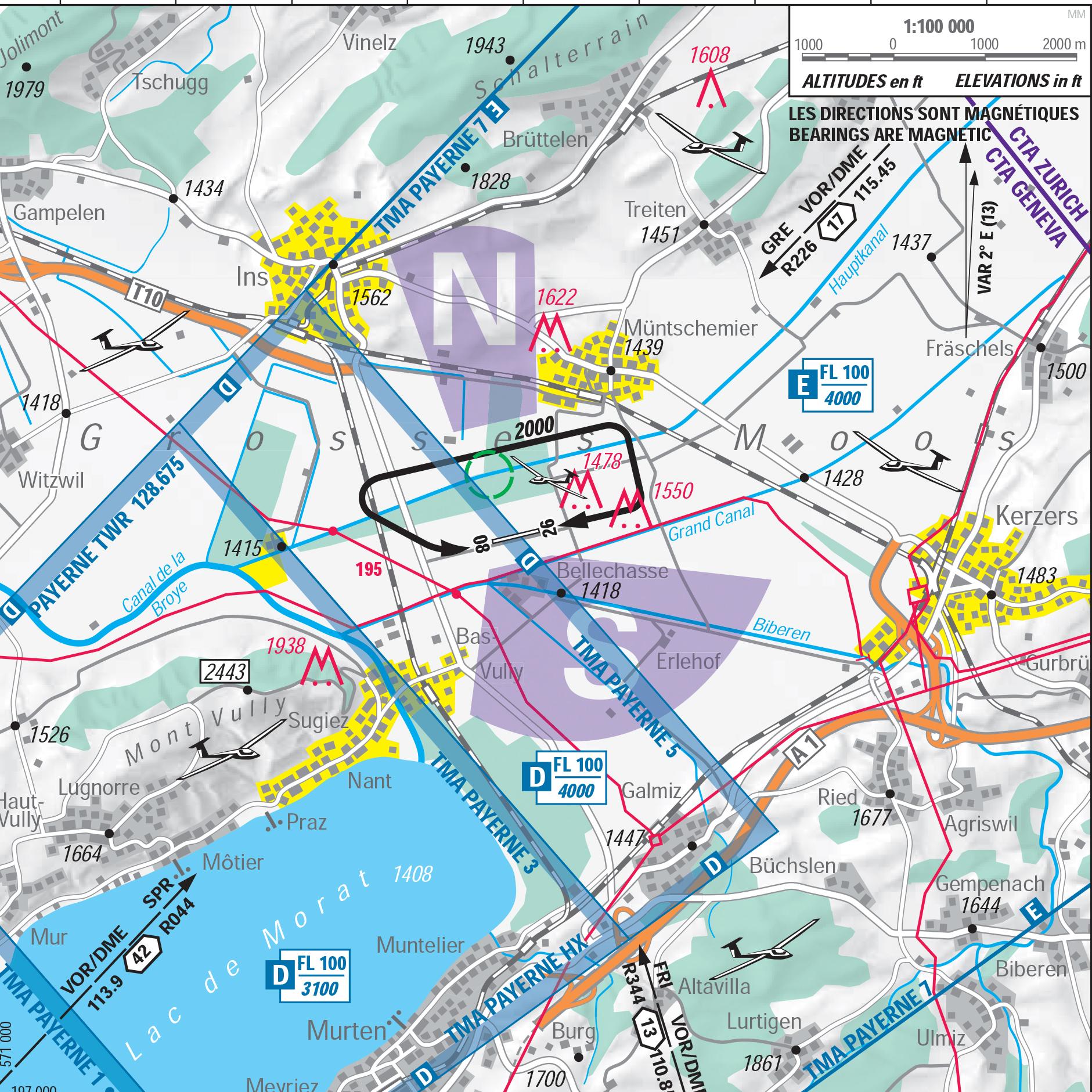 Not for navigational use Quelle: Bundesamt für Landestopografie swisstopo, skyguide