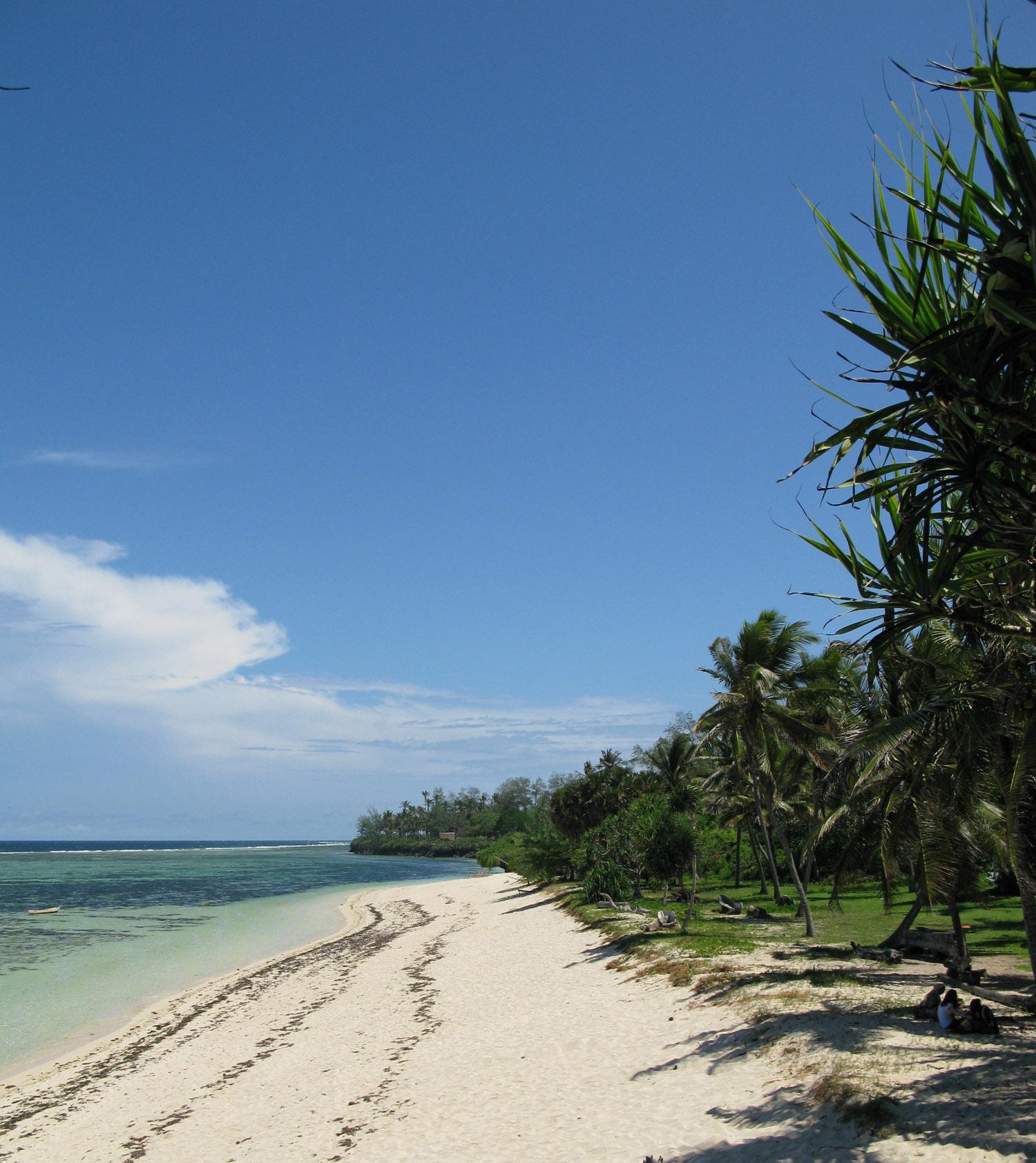 Sand Island Beach, low tide