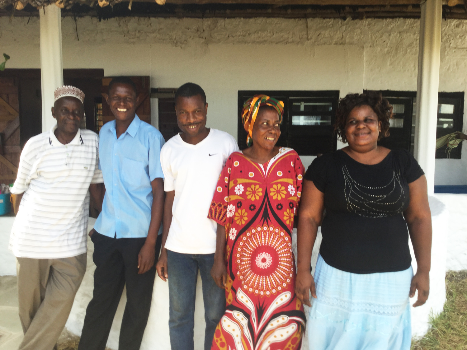 Some of our resident chefs ... Mzee Mohammed, Peter, Ali, Binty and Joyce