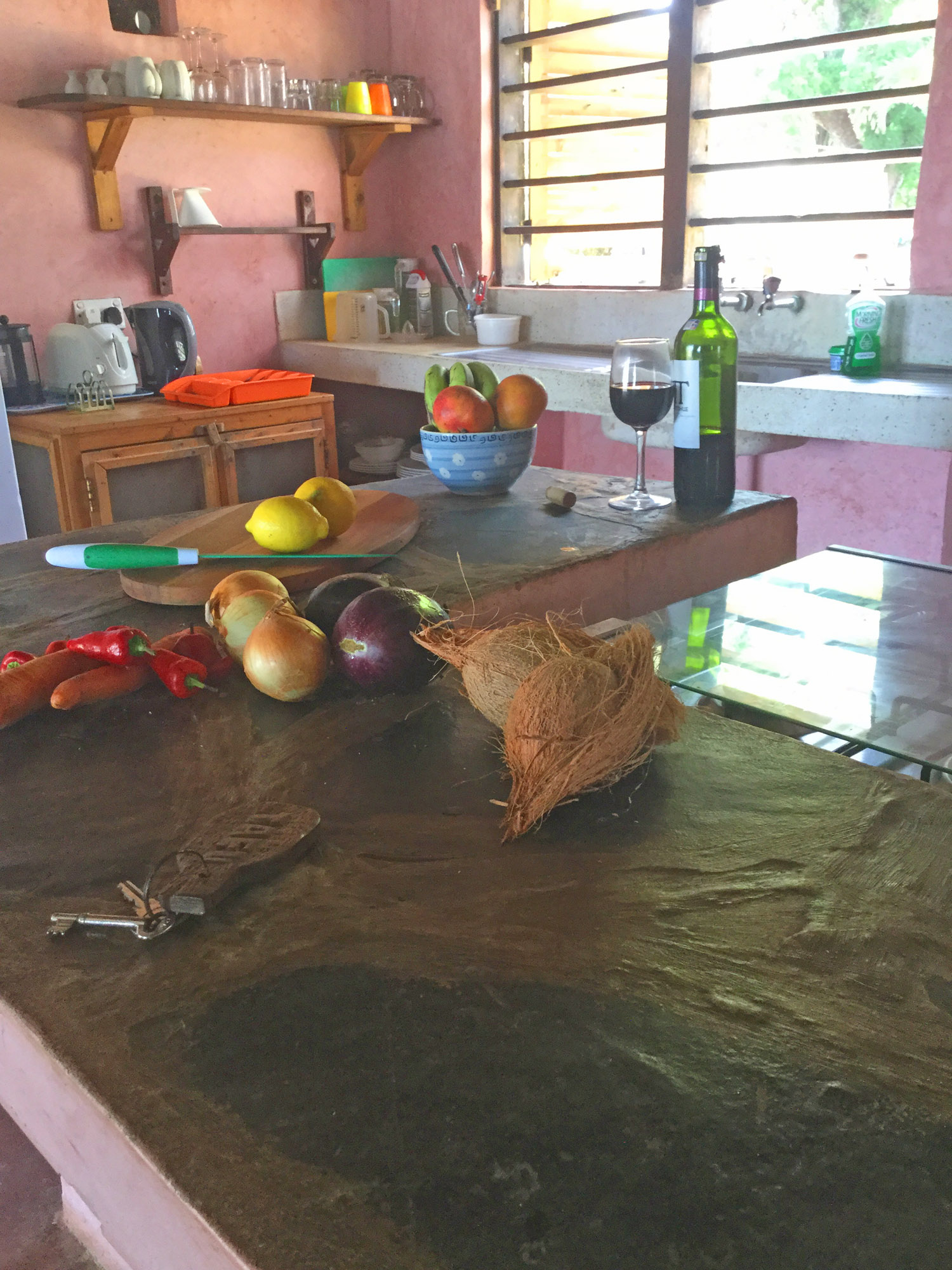 Meal preparation in the kitchen at Tafi
