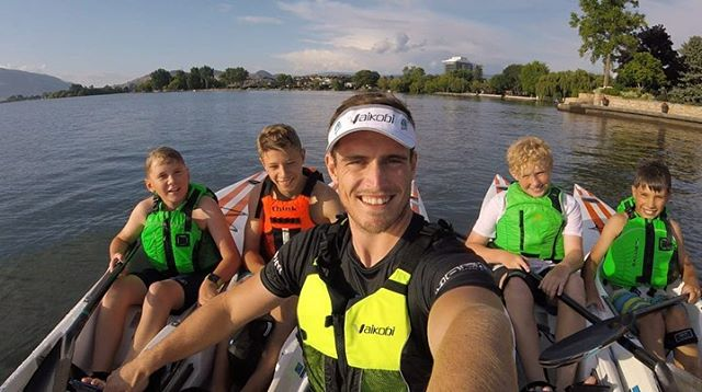Our future is bright! @kennyriceza was lucky enough to paddle with and coach some shining stars of Surfski in Kelowna this week. The @thinkkayak.global JET is the perfect boat for juniors and has helped to open up the stoke to all ages! Thank you @kelownapaddlecentre for having us!!! @vaikobi