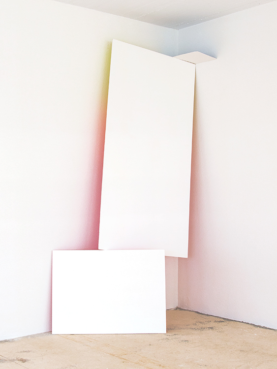 Untitled (Painting after R.S.), Paint on 3 wooden panels  , Dimensions variable, 2016