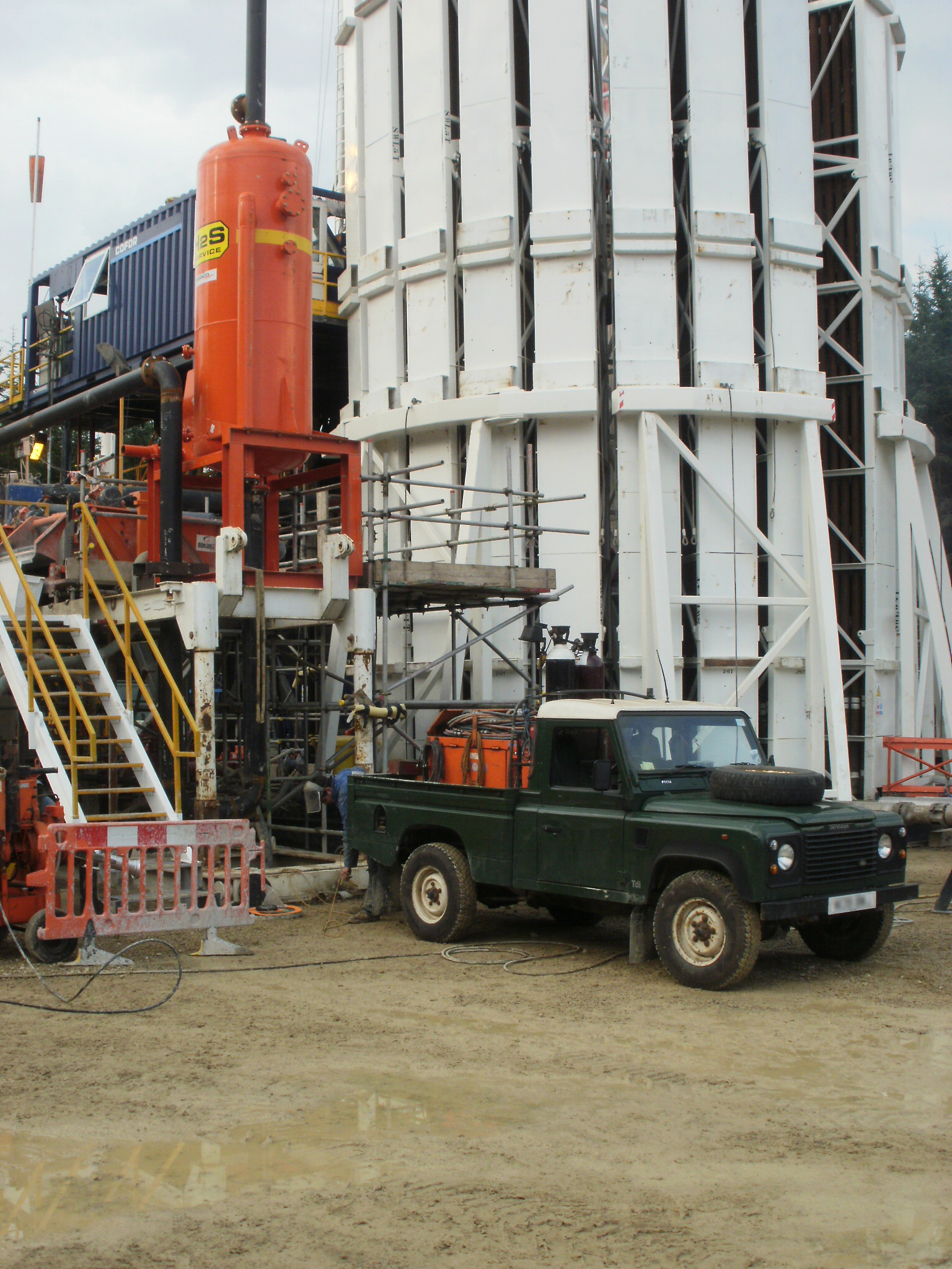 Site welding on Drilling Rig
