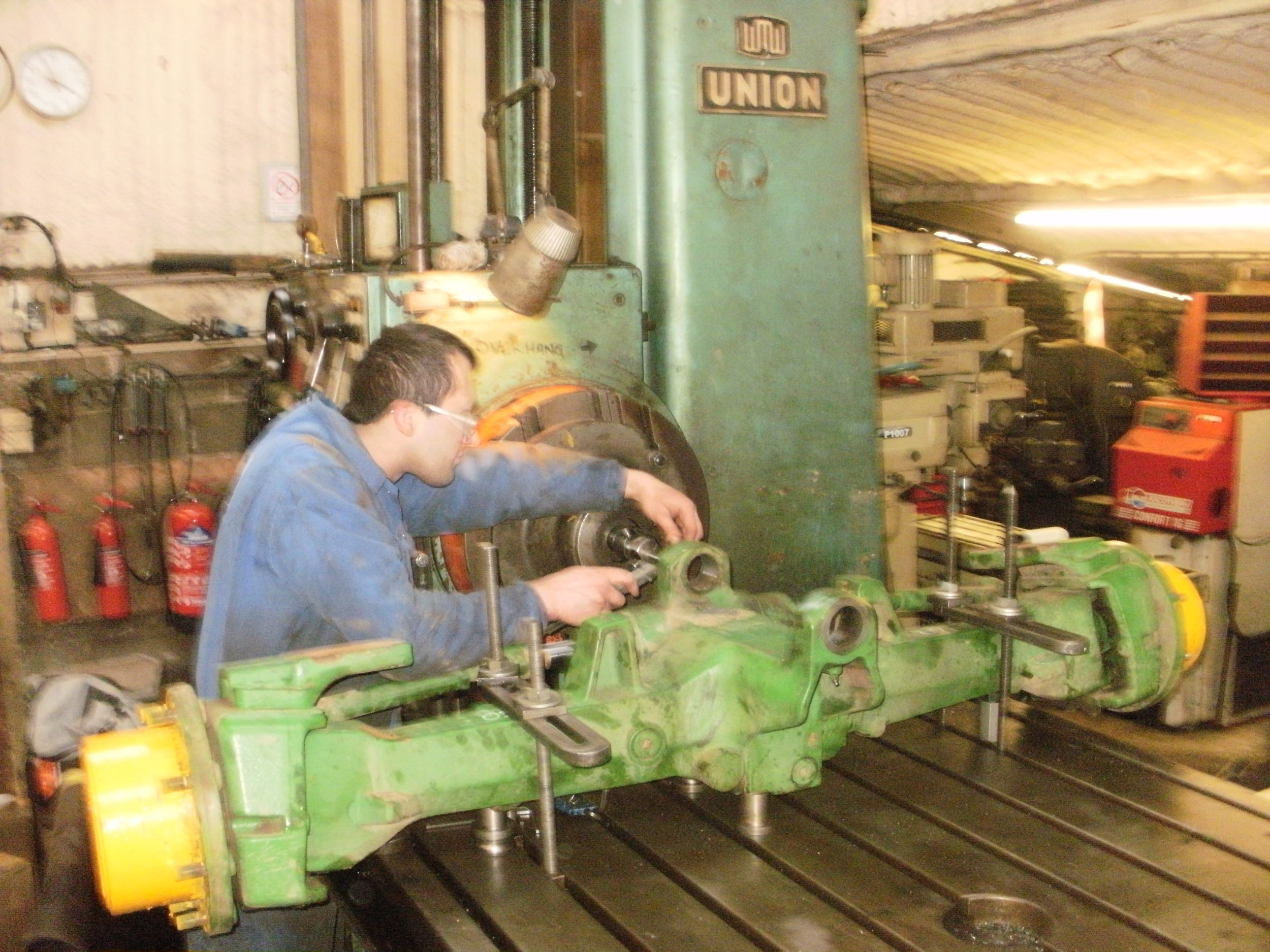 Line boring JD front axle