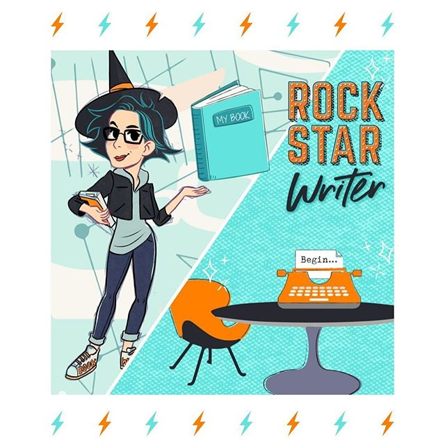 So if you didn't already know,  I'm the founder of the Rockstar Writers Academy, which helps coaches & consultants turn their knowledge, expertise and passion into a game-changing book.  Let's face it,  I think we both know that somewhere deep down, you really really want to write a book.  You know that you've got a message to share.  And you KNOW that it's going to be a really smart move because it's a platinum business card that's going to generate incredible opportunities for you and help you create more impact.  But I get that the thought of it can be incredibly overwhelming.  Where do I even start? How do I fit it into my already crazy busy schedule? How am I going to get anyone to buy it?  It's ok - I get it!  Which is why I've created a step-by-step guide that shows you exactly what you need to do to take that brain spaghetti idea and turn it into a book that people will LOVE. The guide features some really powerful questions that you can ask yourself that will set you up for writing an incredible book that guarantees you're turning enthusiastic readers into devoted clients.  So check the link in my bio and grab the guide that me and my little cartoon friend Bookwitch have created for you and let's turn you into a Rockstar Writer....⚡️👊🏼📙