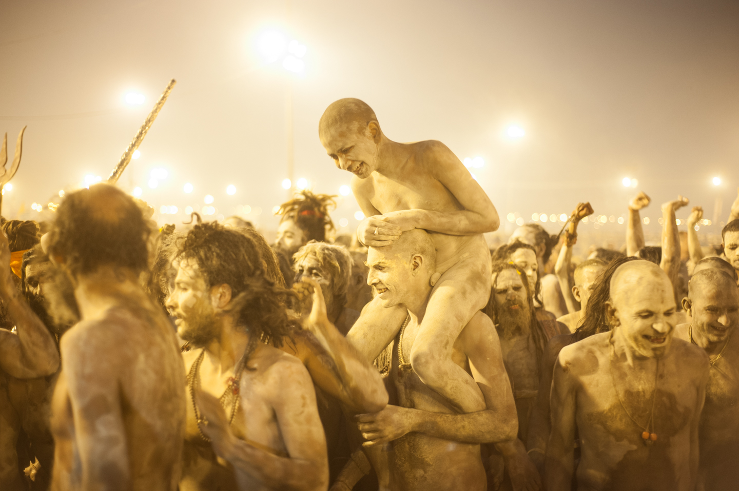 Sadhus after bathing