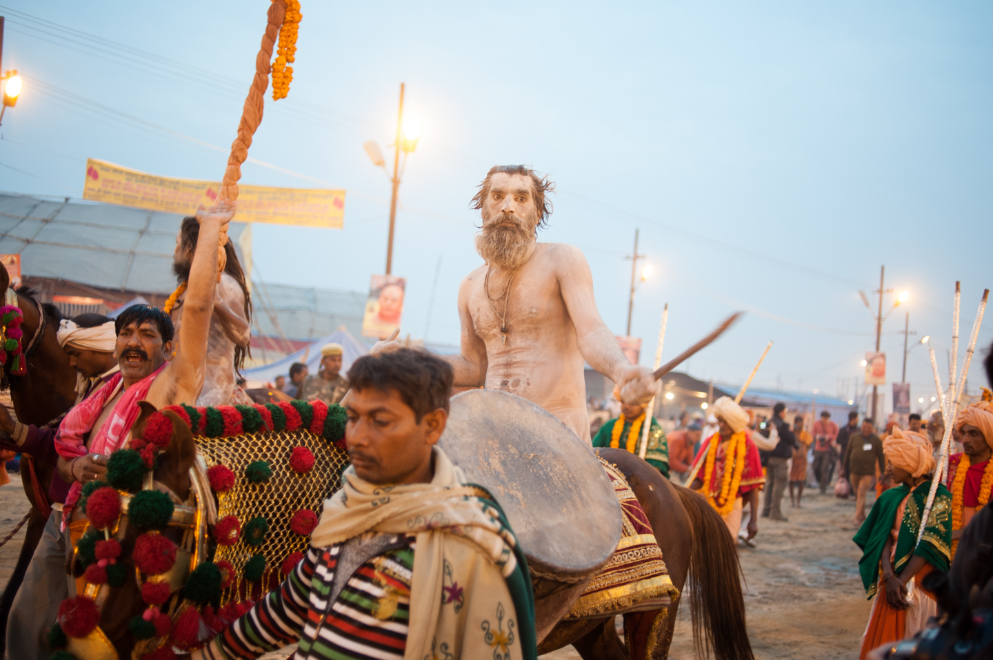 Sadhu returning to his camp