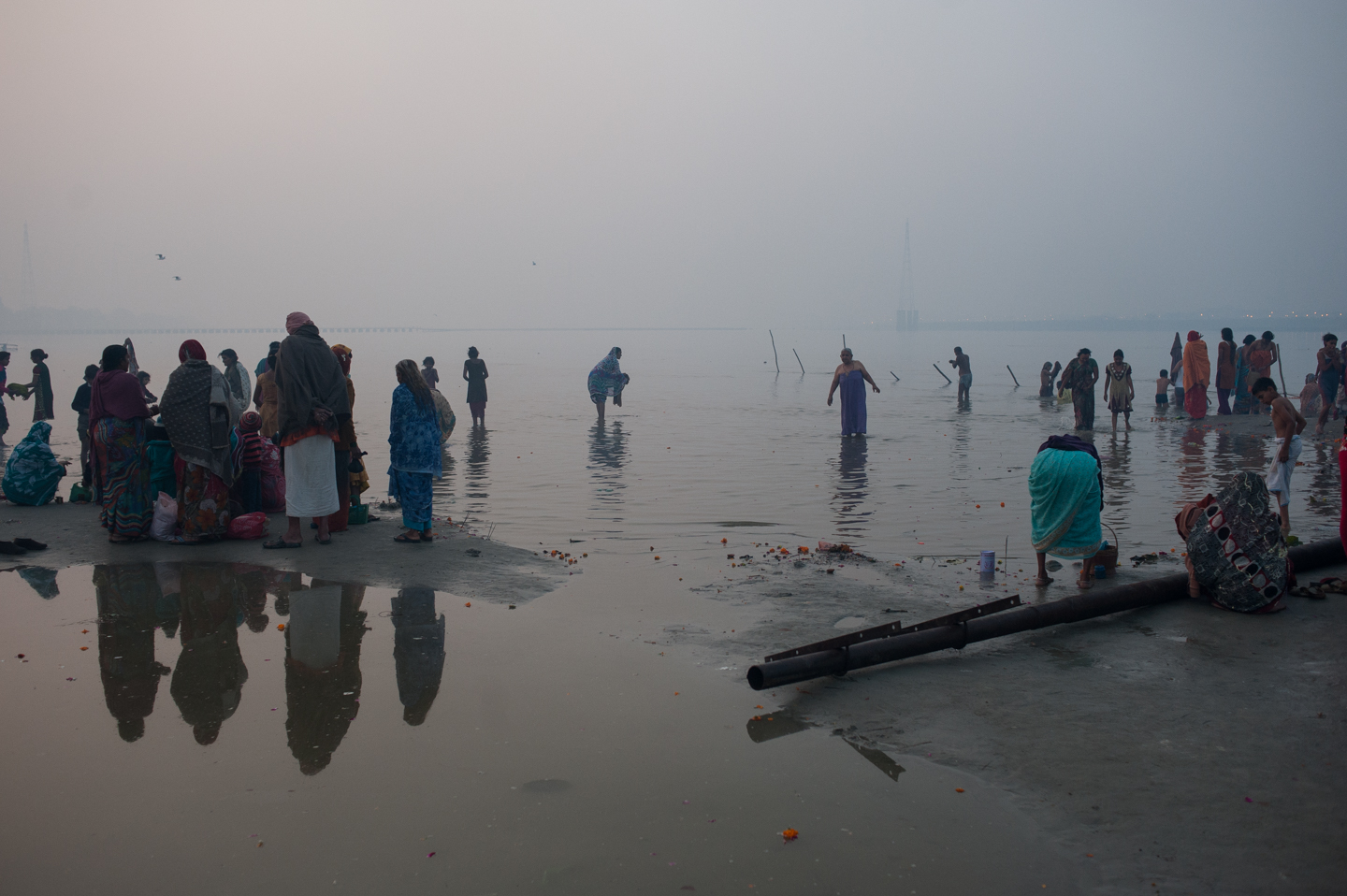 Pilgrims bathing, early morning