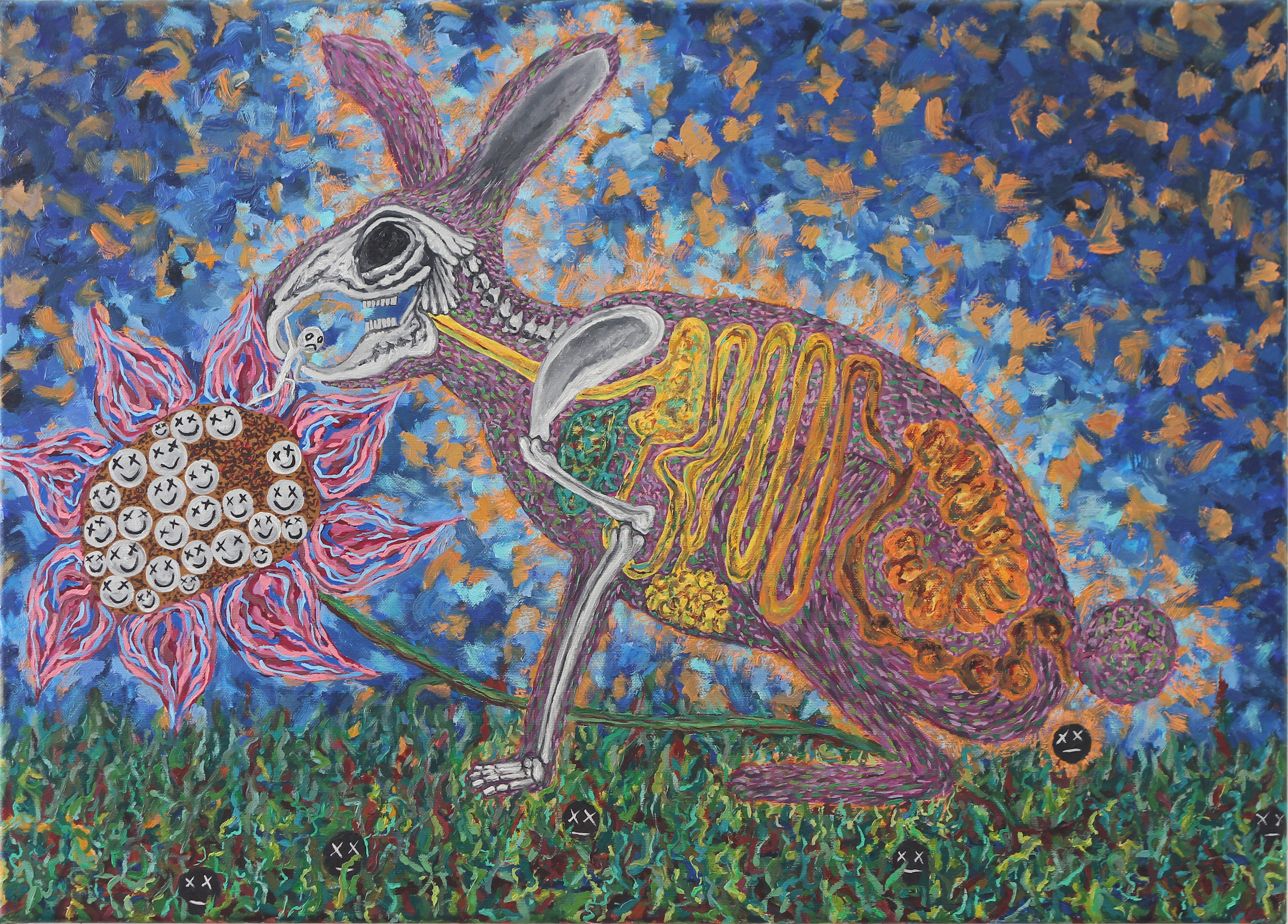 Rabbit Eats Being 2, painting by Yagama