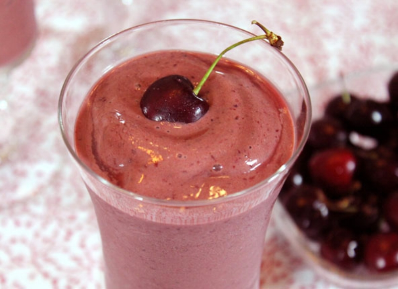 High Nutrition Cherry Smoothie for you 10-a-day