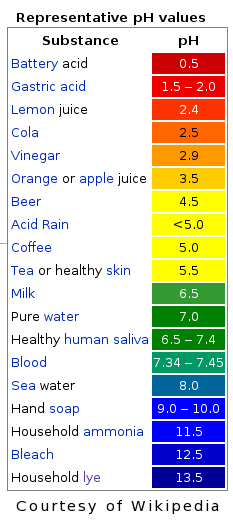 PH Acid Alkaline Scale